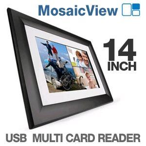 Westinghouse DPF 1411 Digital Photo Frame   14 inches, 1280x800, Mosaic View, 128MB, 2x USB, Multi Card Reader, Ebony Black