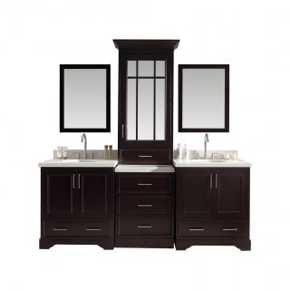 Stafford 85 Double Sink Vanity Set with Mirror by Ariel Bath