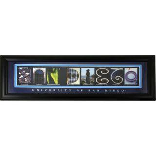 San Diego Toreros 8 x 20 Framed Letter Art