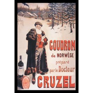 Buyenlarge Doctor Cruzel by Frank Malzac Framed Vintage Advertisement