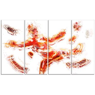 Design Art Sports in Motion 4 Piece Graphic Art on Wrapped Canvas Set