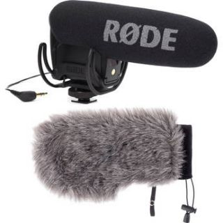Rode VideoMic Pro with Rycote Lyre Shockmount & Windbuster