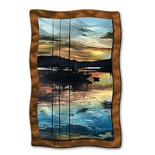 All My Walls Sunset Swells by Patricia Ackor Painting Print Plaque