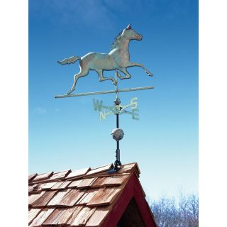 Whitehall 45030 Copper Horse Weathervane   Verdigris