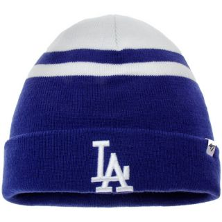 47 Los Angeles Dodgers White Cedarwood Cuffed Knit Hat