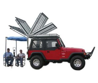 Olympic 4x4 Products   Olympic 4X4 Products Steel Daves Rack System, 921 111   Fits 1987 to 1995 YJ Wrangler