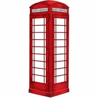 WallPops Dry Erase London Phone Booth Message Board Decal