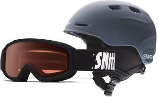 Smith Zoom Snow Helmet and Sidekick Goggles Combo   Boys