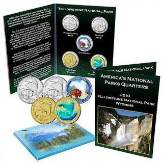 2010 Yellowstone National Park 5 piece Quarter Set   6131843