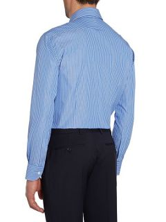 Chester Barrie Contemporary Richard Spaced Stripe Shirt Blue