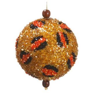 "3"" Diva Safari Beaded Leopard Spot Animal Print Christmas Ball Ornament (75mm)"