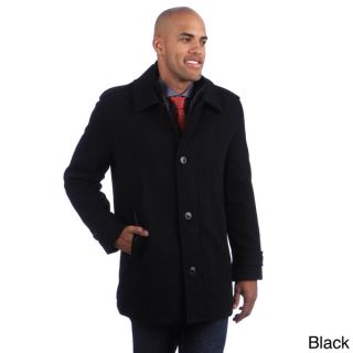 Andrew Marc Mens Button up Wool Blend Coat