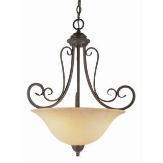Trans Globe Lighting 6528 ABZ New Century 3 Light Bowl Pendant in Antique Bronze