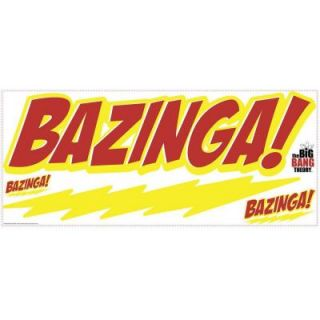 18 in. x 40 in. Big Bang Theory BAZINGA 5 Piece Peel and Stick Giant Wall Decal RMK2200GM