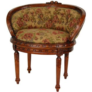 Oriental Furniture Queen Mary Parlor Wing Chair