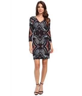 Karen Kane Abstract Kaleidoscope Sheath Dress