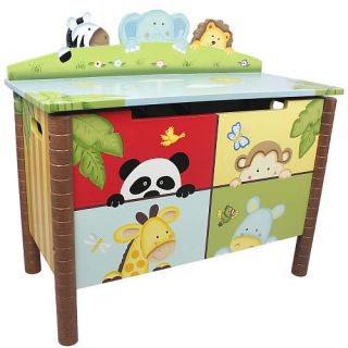 Fantasy Fields Sunny Safari Toy Chest    Teamson Design Corp