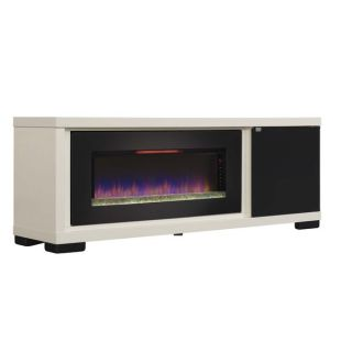 Classic Flame 47 inch Brickell Antique White Media Console   17485047