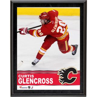 Curtis Glencross Calgary Flames  Authentic 10.5 x 13 Sublimated Plaque