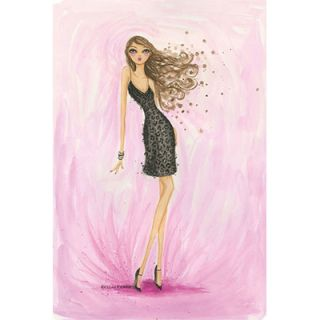 iCanvas Little Black Dress Valentine by Bella Pilar Painting Print on