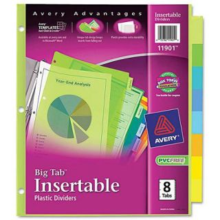 Avery Big Tab Insertable Plastic Dividers, 8 Tab, Letter, Multicolor