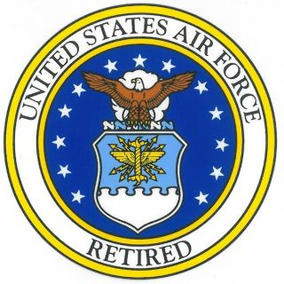 US Air Force Retired with Usaf Seal Car Decal   17459127