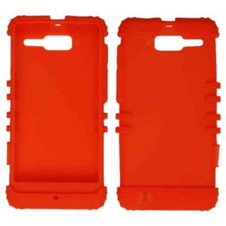Unlimited Cellular Rocker Series Skin Case for Motorola DROID RAZR M XT907 (Orange)