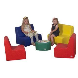 Children's Factory 5 Piece Kids Tot Family Room Set