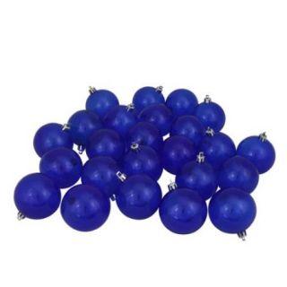 "16ct Blue Transparent Shatterproof Christmas Ball Ornaments 3.25"" (80mm)"