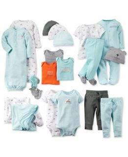 Carters Baby Boys Hats, Mitts, Bodysuits, Gowns, Pants & Blankets