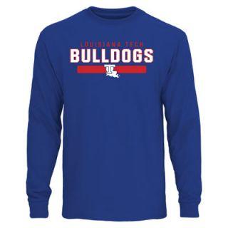 Louisiana Tech Bulldogs Team Strong Long Sleeve T Shirt   Royal Blue