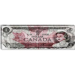 iCanvas One Canadian Dollar 2 Panoramic Graphic Art on Canvas; 16 H x 48 W x 0.75 D
