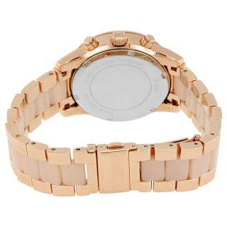Michael Kors Ritz Quartz Chronograph Rose Dial Rose Gold tone Pink