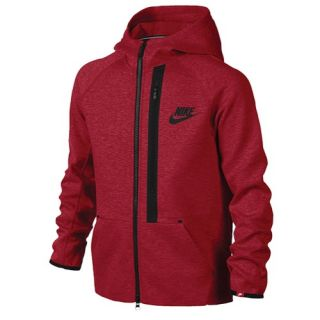 Nike YA76 Tech Fleece Full Zip Hoodie   Boys Grade School   Casual   Clothing   Dark Grey Heather/Black