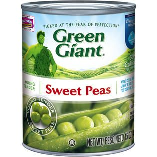 Green Giant Young Tender Sweet Peas 15 OZ CAN   Food & Grocery