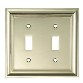 allen + roth 2 Gang Polished Brass Toggle Wall Plate