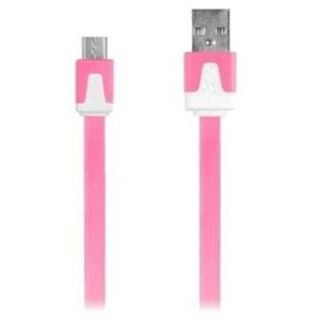 iEssentials 3.3ft Micro USB Flat Colored Charge and Sync Cable   For APPLE/Android   USB   3.30 ft   1 x Male Micro USB   1 x Type A Male USB   Pink