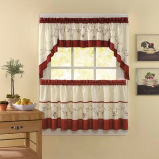 CHF & You Grace Tailored Tier Curtain Panel, Set of 2