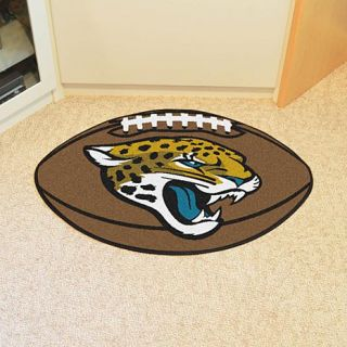 Officially Licensed NFL Team Logo Carpeted Football Mat by Sports Licensing Solutions   Jaguars   8224530