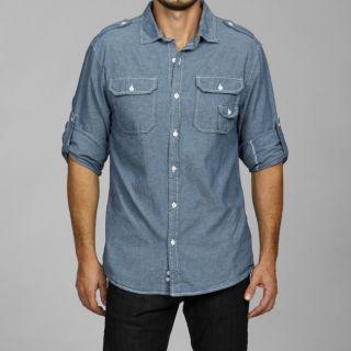 George & Martha Mens Chambray Woven Shirt   Shopping   Big