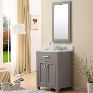 Water Creation Madison 24 Madison 24 Single Sink Bathroom Vanity with Framed Mirror   Vanity Top Included