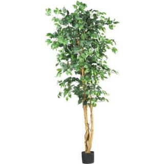 Nearly Natural 5209 Ficus Silk Tree, 6 Feet, Green