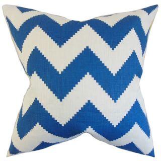 Maillol Marine Zig zag 18 inch Feather Throw Pillow   16732237