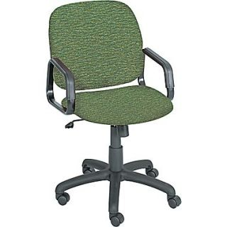 Safco Cava High Back Fabric Desk Chair, Fixed Arms, Green