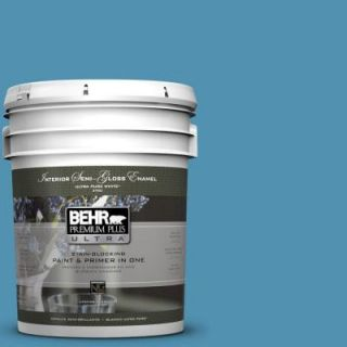 BEHR Premium Plus Ultra 5 gal. #M490 5 Jet Ski Semi Gloss Enamel Interior Paint 375405