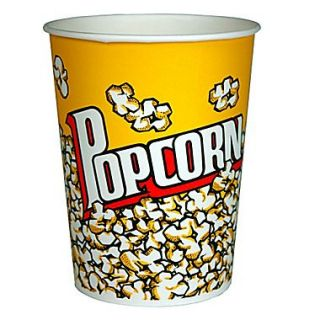 Paragon International Popcorn Bucket (Set of 50); 130 oz.