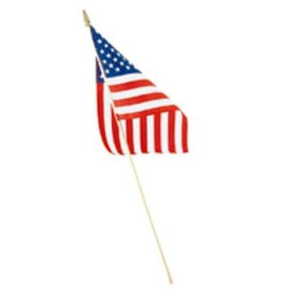 Seasonal Designs 8 in. x 12 in. Polycotton U.S. Hand Flag hf8