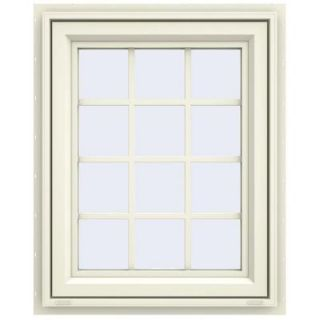 JELD WEN 29.5 in. x 35.5 in. V 4500 Series Awning Vinyl Window with Grids   Yellow THDJW143200167