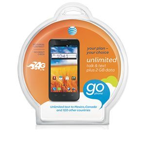 AT&T Z998 Go Phone Bundle (Prepaid Smartphone)   Android 4.1.2 OS, 4.5 Touchscreen, 5MP Camera (6081A)Bundle includes a Bluetooth Headset