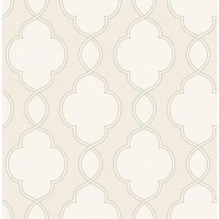 A Street 56 sq. ft. Structure Cream Chain Link Wallpaper 2625 21822